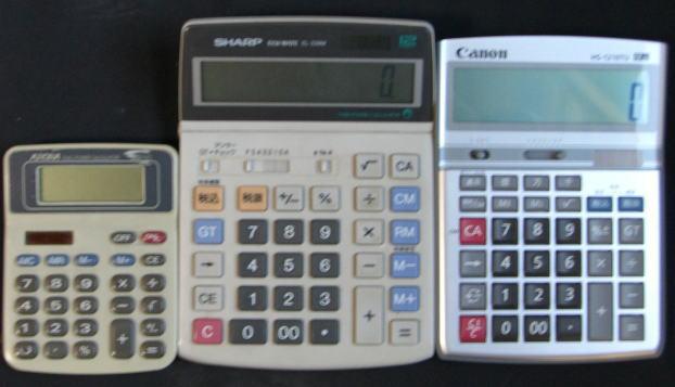 簿記2級では必須の高品質電卓と避けるべきペラペラ計算機